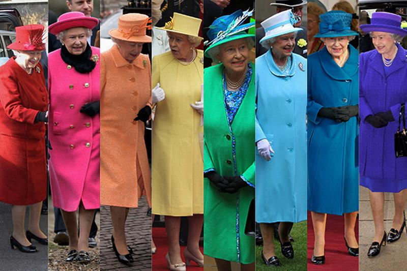 Kraliçe Elizabeth giyim tarzı