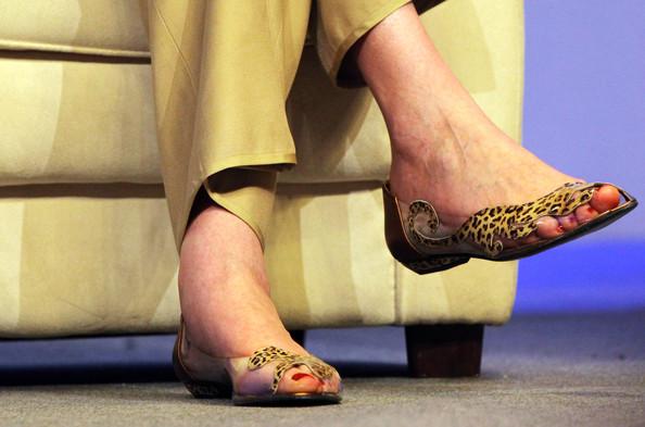 theresa may yazlık leopar ayakkabı