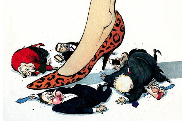 theresamay leopar ayakkabı karikatür