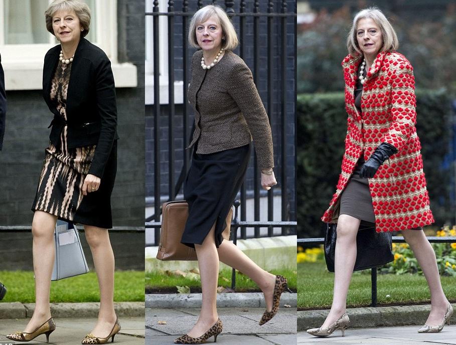 Theresa may hayvan desenli ayakkabı