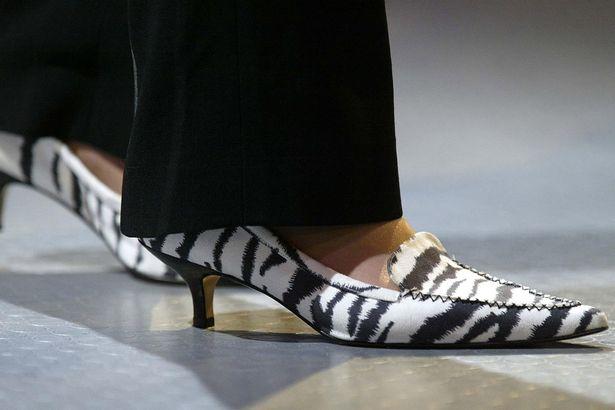 theresa may zebra ayakkabı