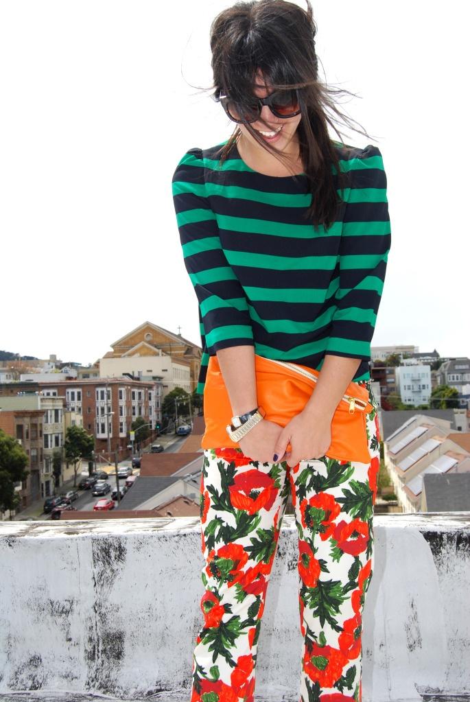 floral pantolon neyle giyilir