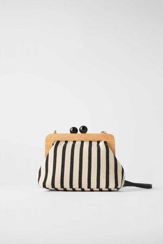 striped bag zara
