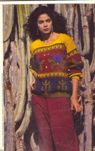 свитер с кактусами