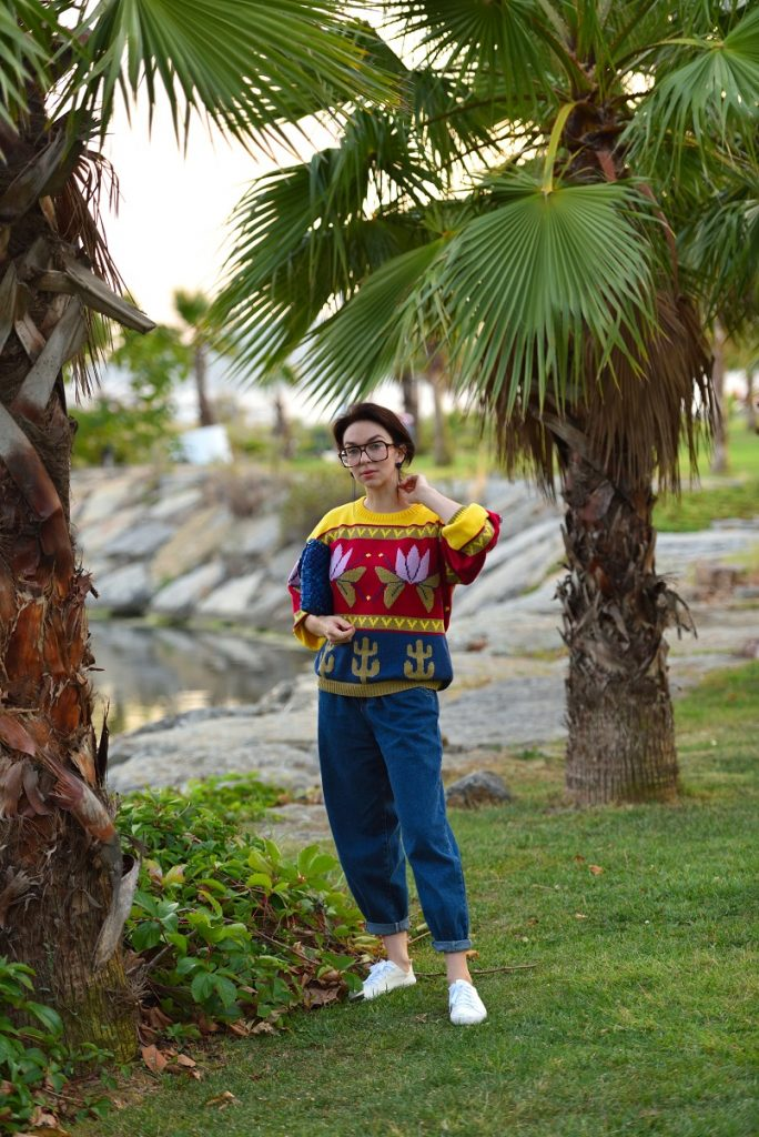 этнический свитер Верена
