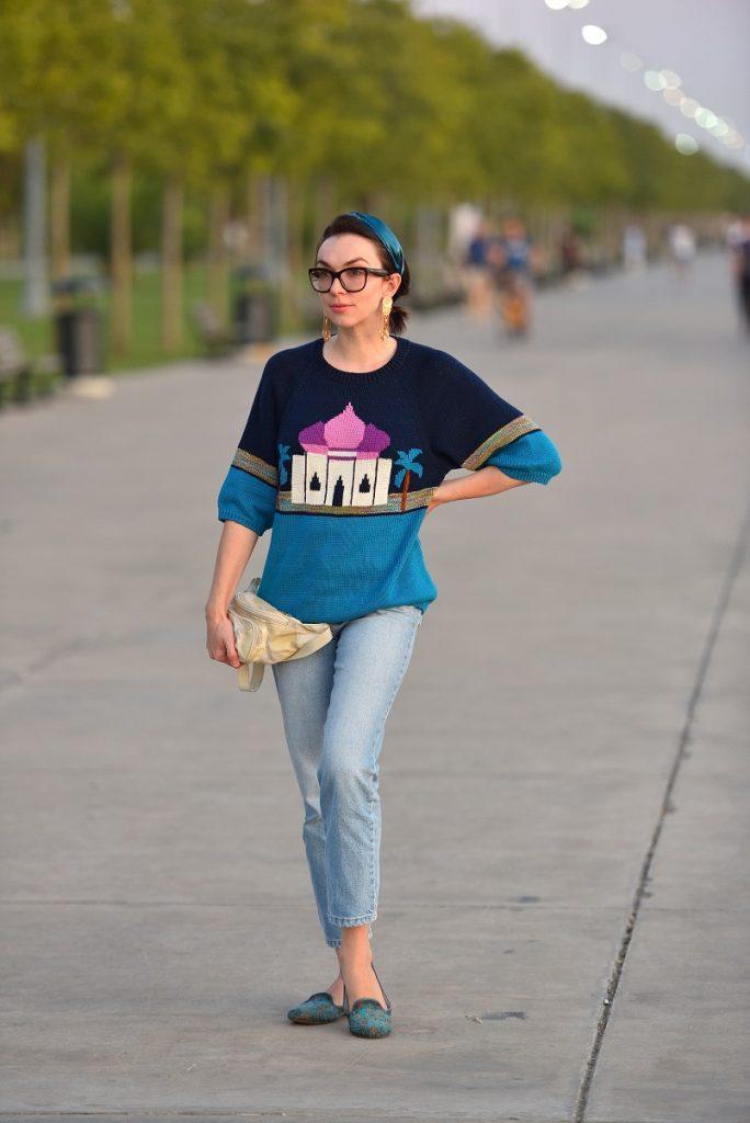 свитер в восточном стиле