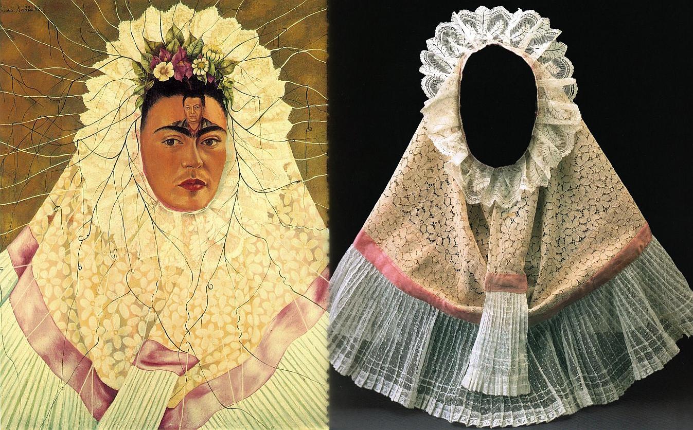 Фрида в народном мексиканском костюме