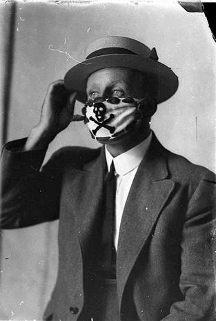 ispanyol gribi erkek maske