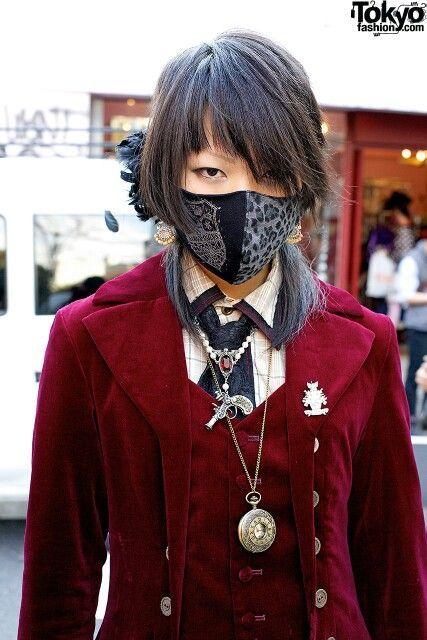 japon modasında maske