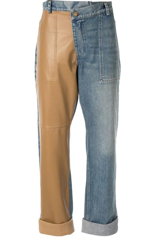 2021 color block kot pantolon