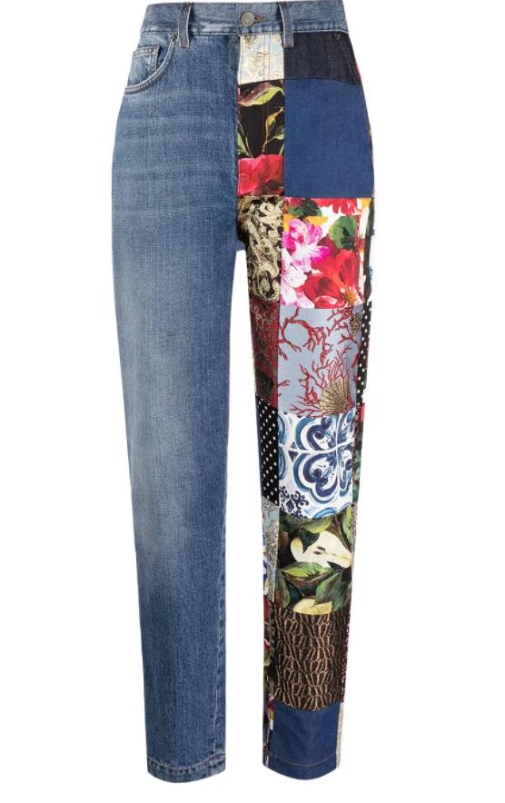 2021 yılının patchwork kot pantolonları