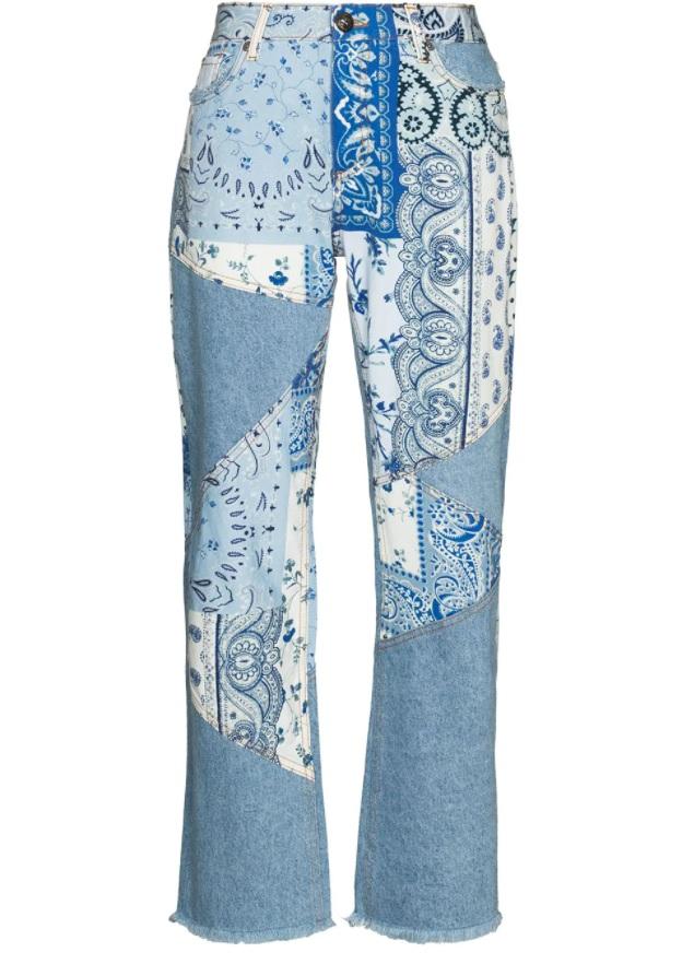 patchwork kot pantolon