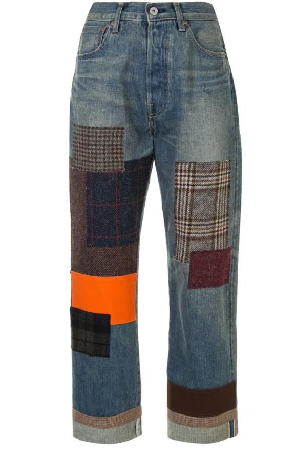 patchwork kot pantolonları 2021