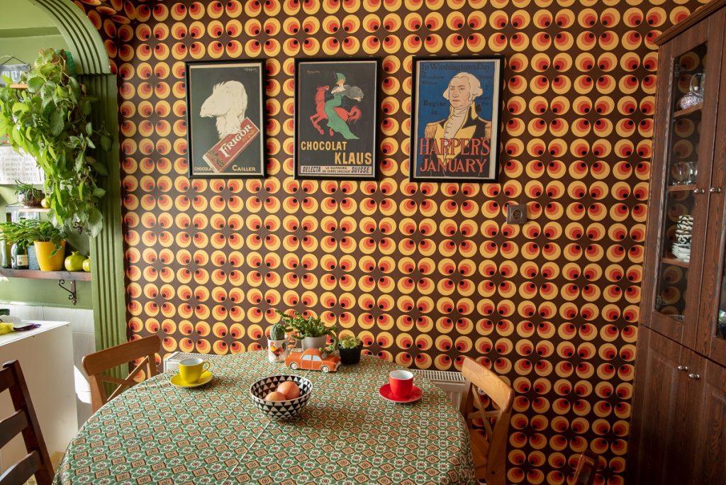 mutfakta retro duvar kağıdı